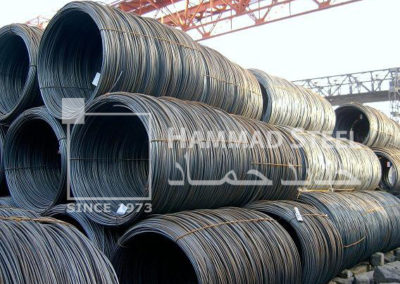 Coil of Steel Wires in warehouse