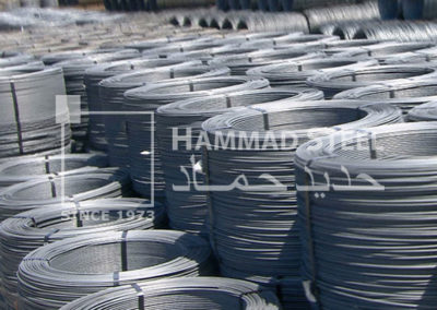 Coil of steel deformed wire in warehouse