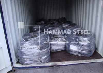 Container Loaded with Annealed Wire Coils and ready for Ship