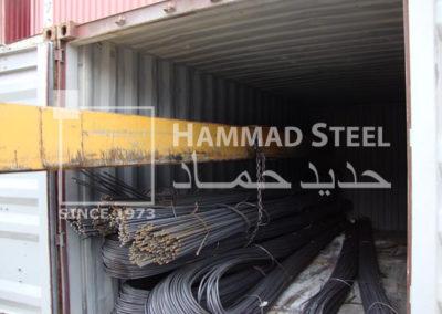 Steel Rebar Bundles Loading In Container