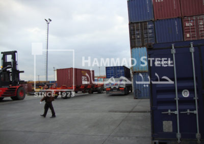 The Truck Moving Forward for Loading Container on Ship